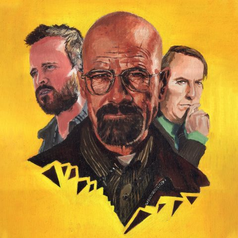 Alternative Poster- Breaking Bad: Handpainted on oil and watercolor
