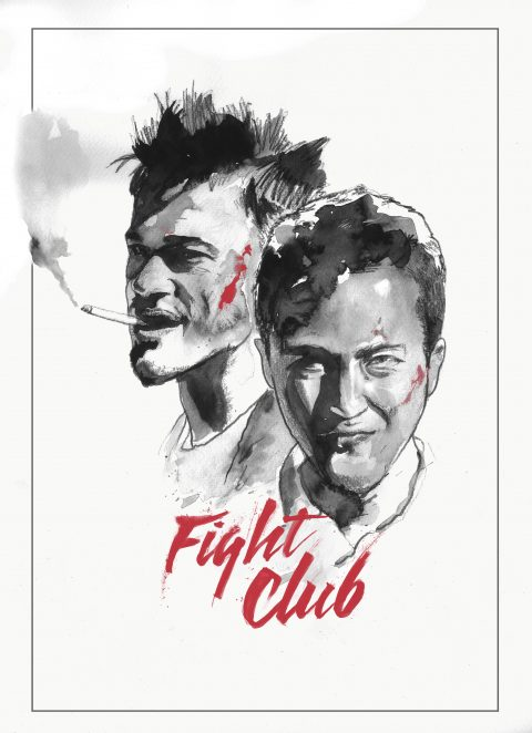 Alternative Movie Poster: Fight Club (Handpainted in Oil)