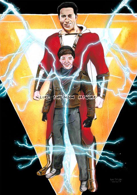 Shazam! (Painted Poster)