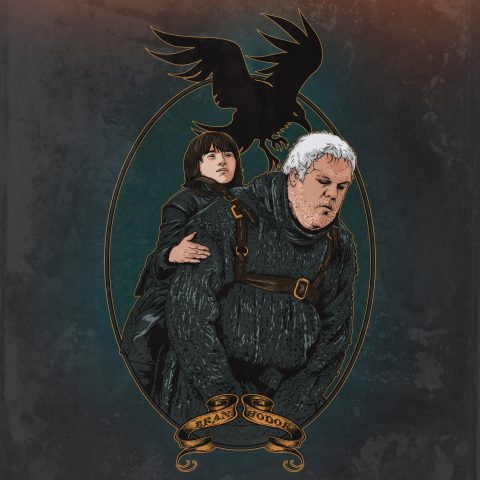 Game of Thrones: Hodor carrying Bran Stark