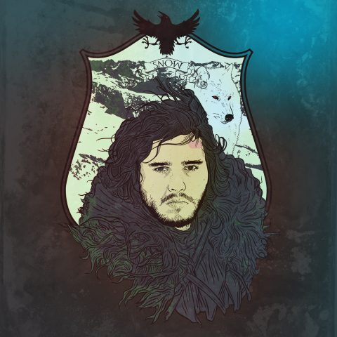 Game of Thrones: Jon Snow in Procreate