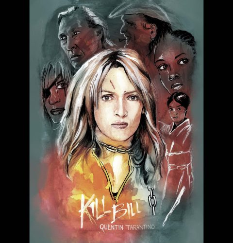 Alternative Movie Poster : Kill Bill (Handpainted in Oil)