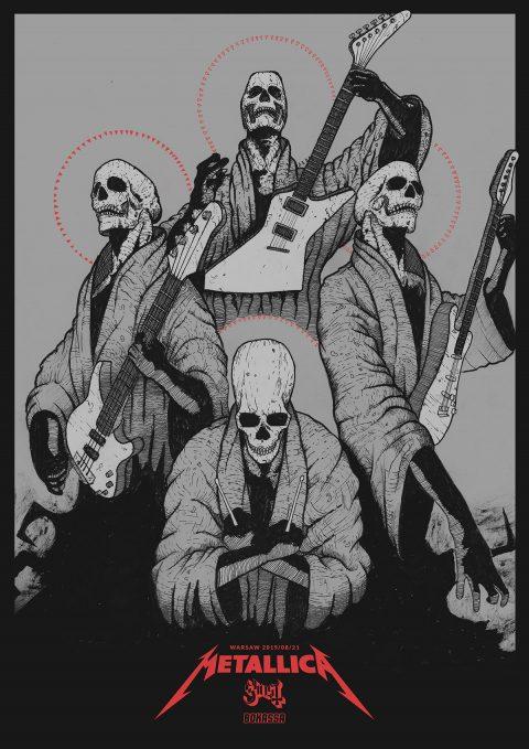 Metallica Warsaw Fan Gig Poster