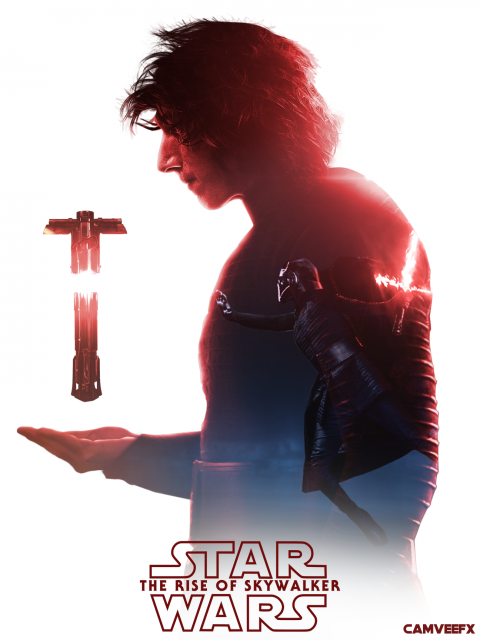 Kylo Ren Double Exposure Poster