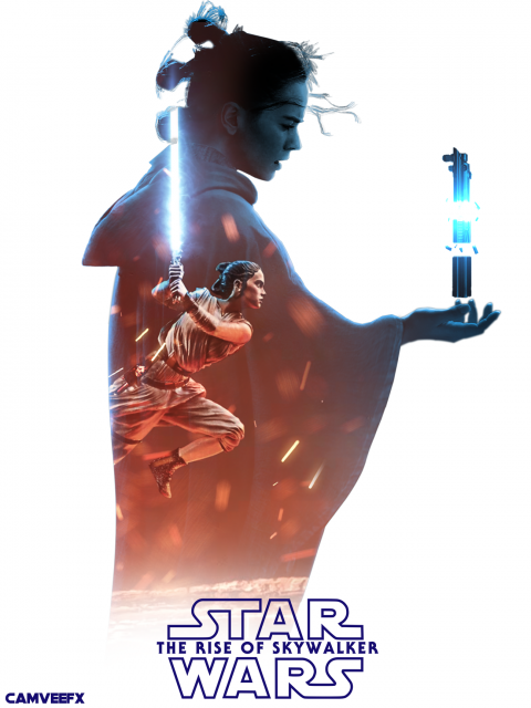Rey Double Exposure Poster