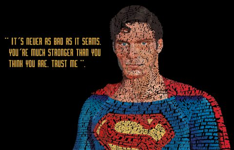 Superman Typography