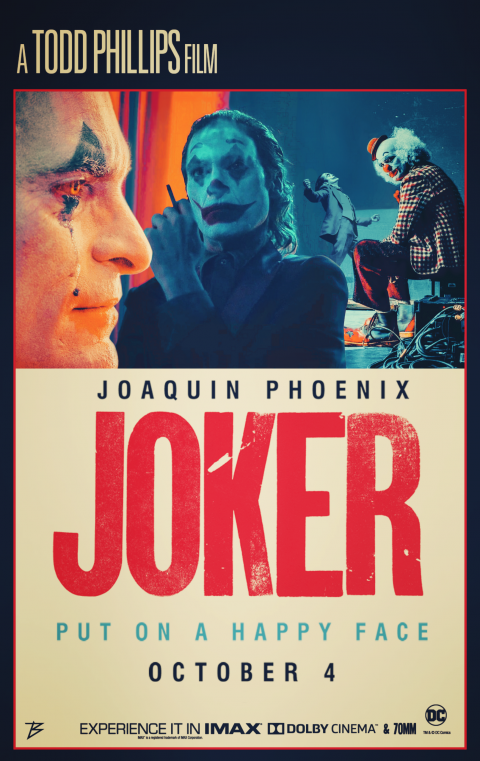 RETRO POSTER OF JOKER MOVIE