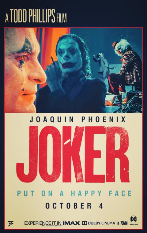 RETRO POSTER OF JOKER MOVIE