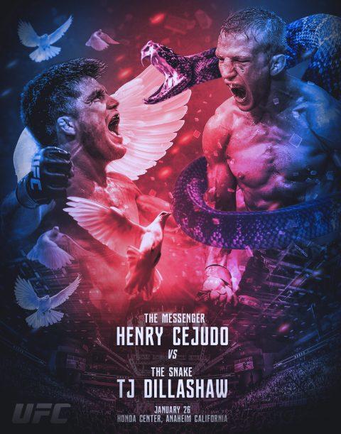 UFC Cejudo vs Dillashaw Poster