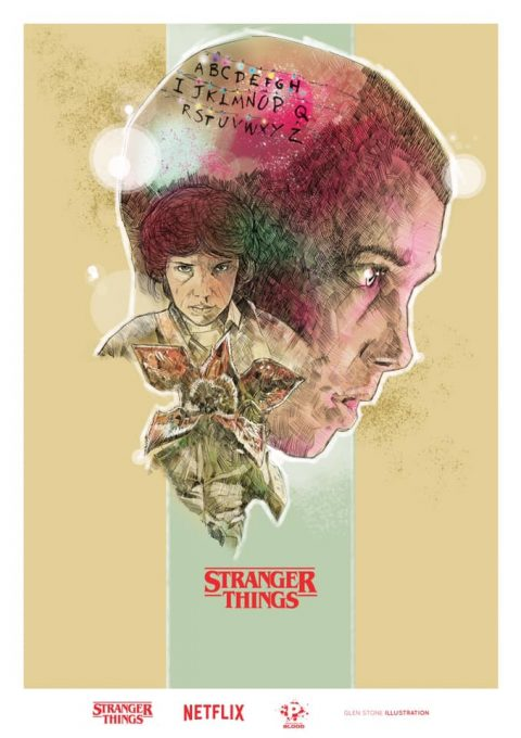 STRANGER THINGS – VISIONS FROM THE UPSIDE DOWN ARTWORK…