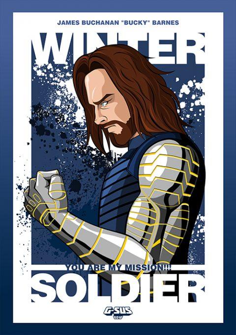 G-SUS ART WINTER SOLDIER ART PRINT