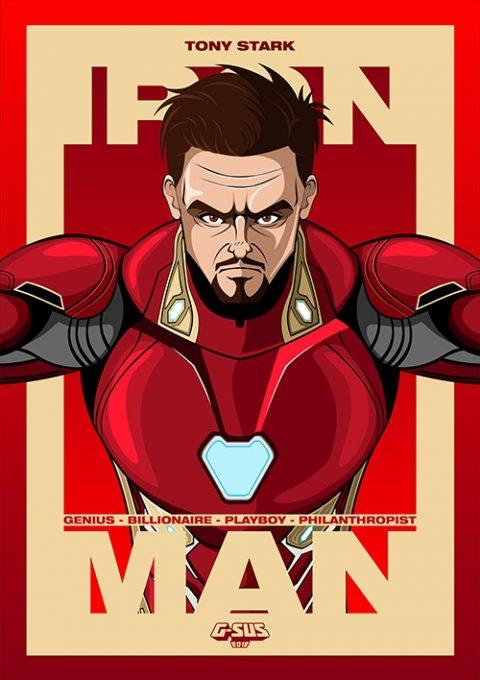 G-SUS ART AVENGER IRON MAN – TONY STARK ART PRINT