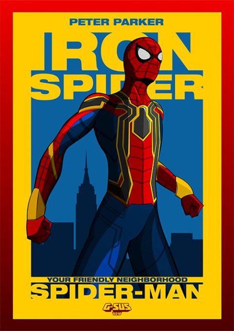 G-SUS ART AVENGER SPIDER-MAN ART PRINT