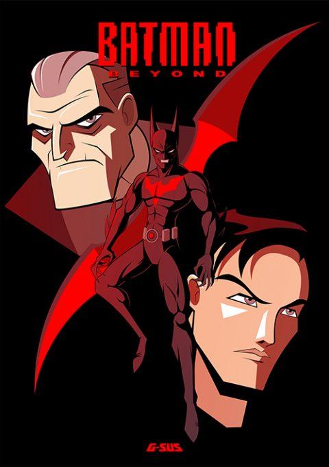 G-SUS ART BATMAN BEYOND ART PRINT