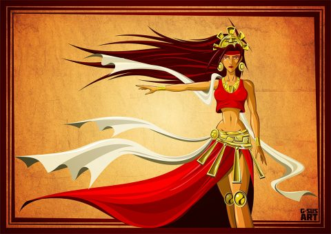 G-SUS ART INKA PRINCESS ART PRINT