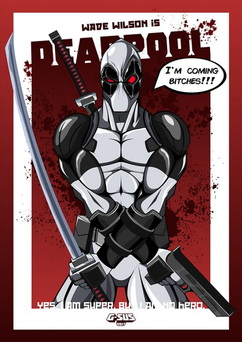 G-SUS ART X-FORCE DEADPOOL ART PRINT