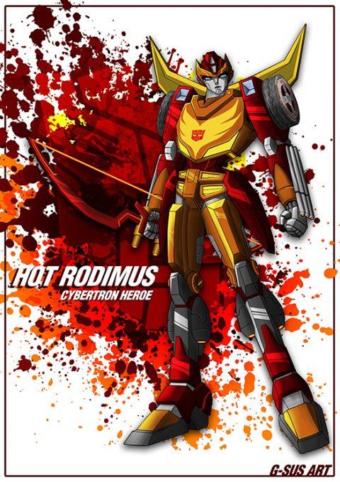G-SUS ART HOT RODIMUS ART PRINT