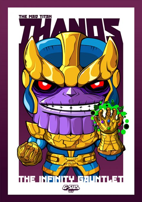 G-SUS ART FUNKO POP THANOS  ART PRINT