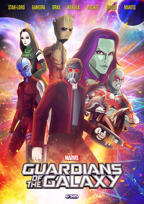 G-SUS ART GUARDIANS OF THE GALAXY ART PRINT