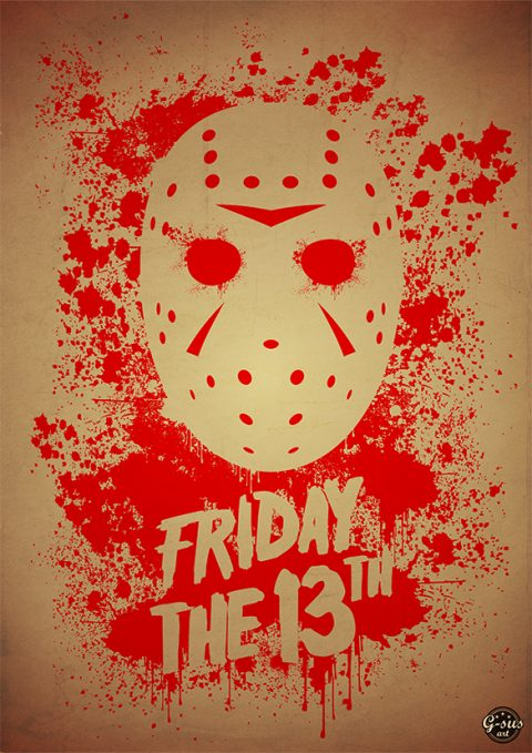 G-SUS ART FRIDAY THE 13TH ART PRINT