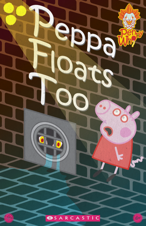 PEPPA FLOATS TOO PEPPA PIG & IT MASHUP PARODY BOOK COVER