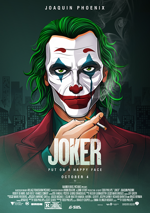 G-SUS ART JOKER ALTERNATIVE MOVIE POSTER V4 ART PRINT ...