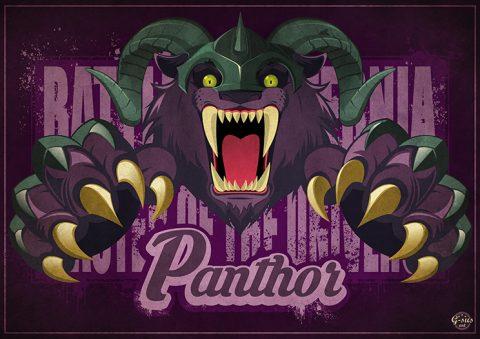 G-SUS ART MOTU PANTHOR ART PRINT