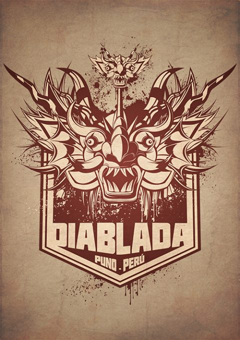 G-SUS ART DIABLADA SHIELD ART PRINT