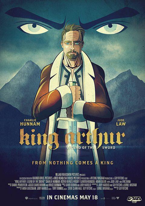 G-SUS ALTERNATIVE MOVIE POSTER KING ARTHUR – ART PRINT V1