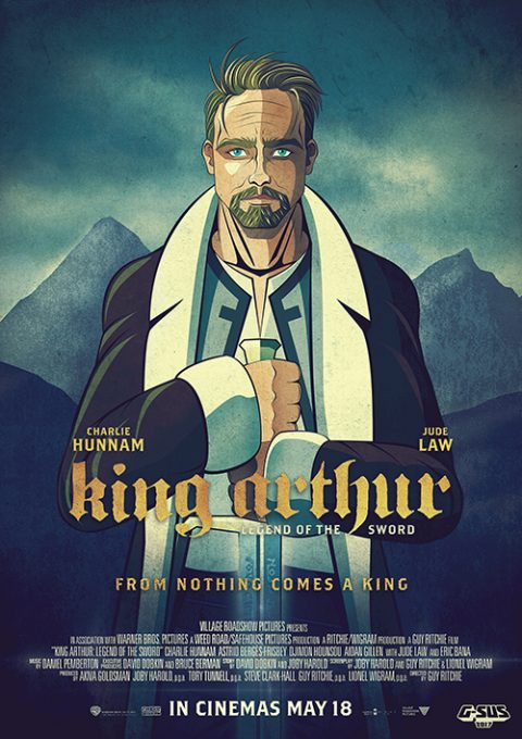 G-SUS ART ALTERNATIVE MOVIE POSTER KING ARTHUR ART PRINT V2