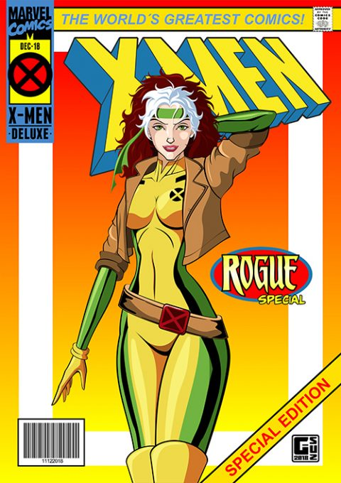 G-SUS ART X-MEN ROGUE ART PRINT