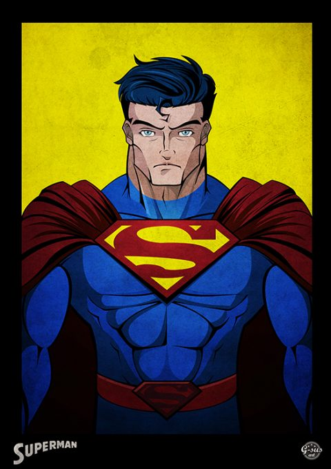 G-SUS ART SUPERMAN ART PRINT
