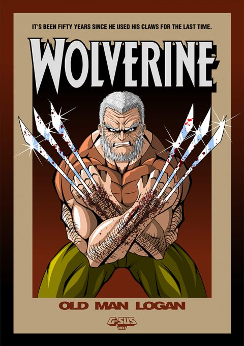 G-SUS ART WOLVERINE OLD MAN LOGAN ART PRINT