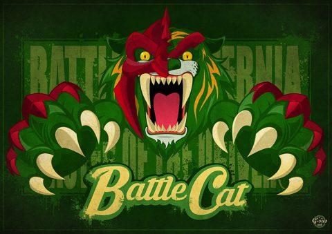 G-SUS ART MOTU BATTLE CAT ART PRINT