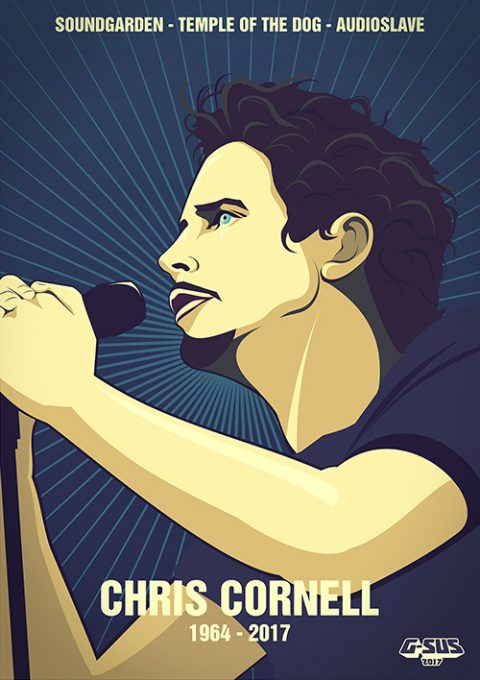 G-SUS ART CHRIS CORNELL TRIBUTE ART PRINT