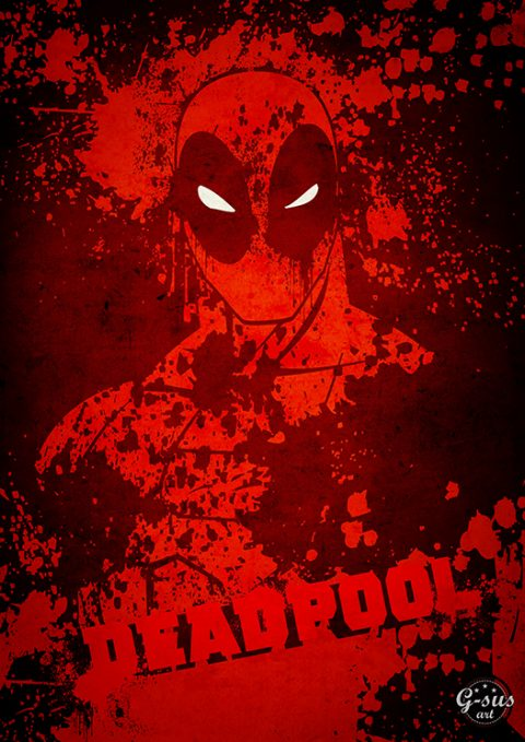 G-SUS ART DEADPOOL ART PRINT
