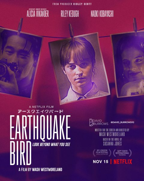 Earthquake Bird Netflix Poster