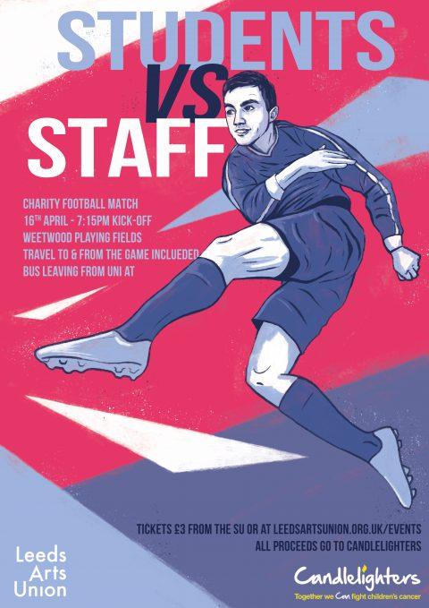 Leeds Arts University – Charity Football Macth Poster