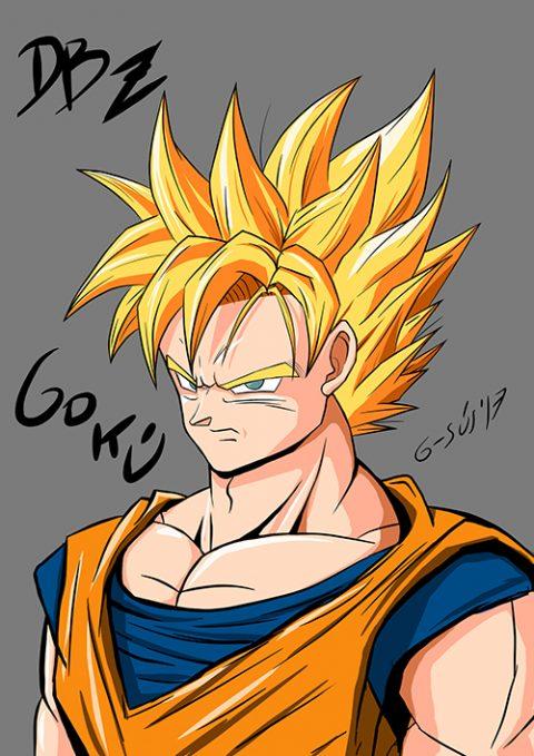 G-SUS ART DRAGON BALL Z – GOKU – ART PRINT
