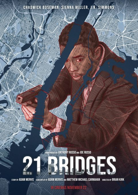 """21 bridges"" alternative movie poster"