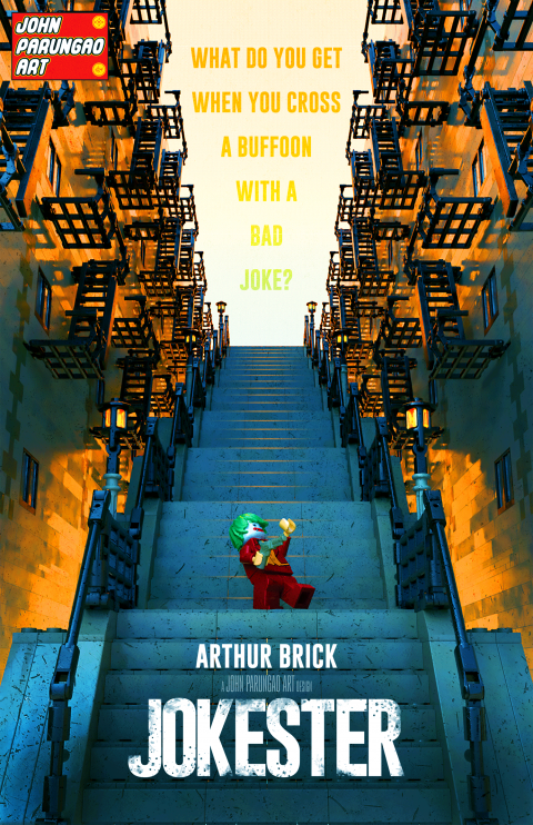 ARTHUR BRICK JOKESTER MOVIE MASHUP PARODY 3D PACKAGE DESIGN