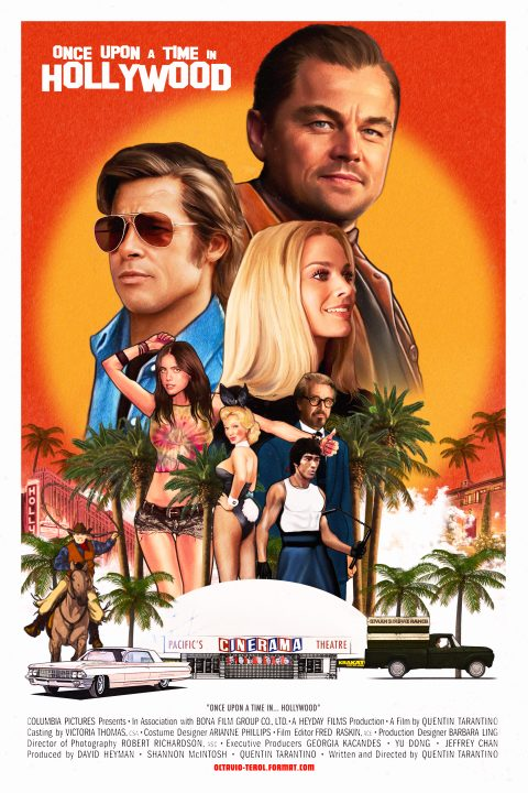 Once Upon A Time In Hollywood – alternative movie poster