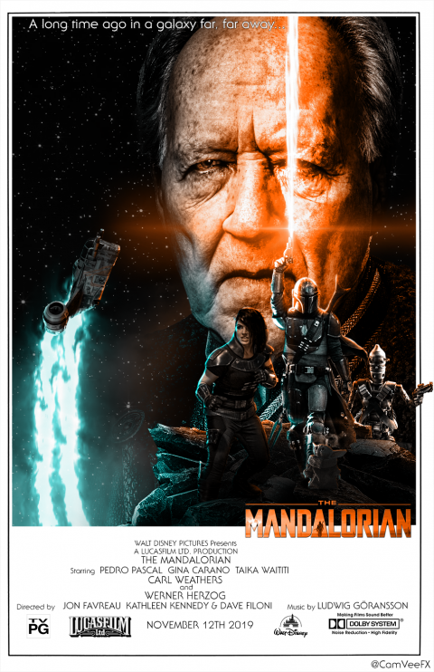 The Mandalorian Retro Poster