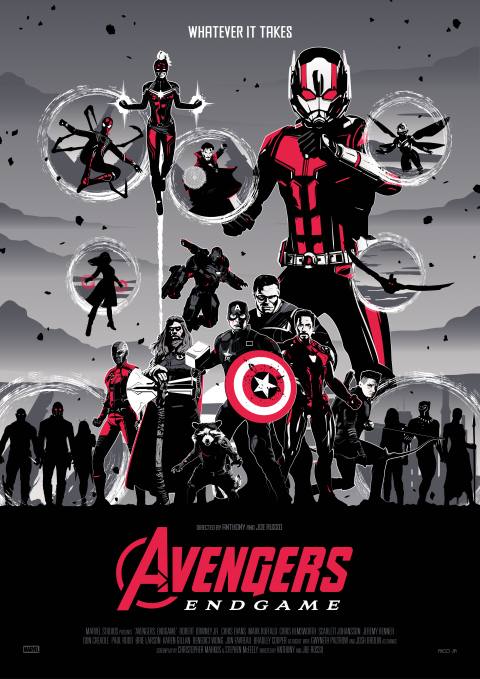 AVENGERS: ENDGAME RED Poster Art