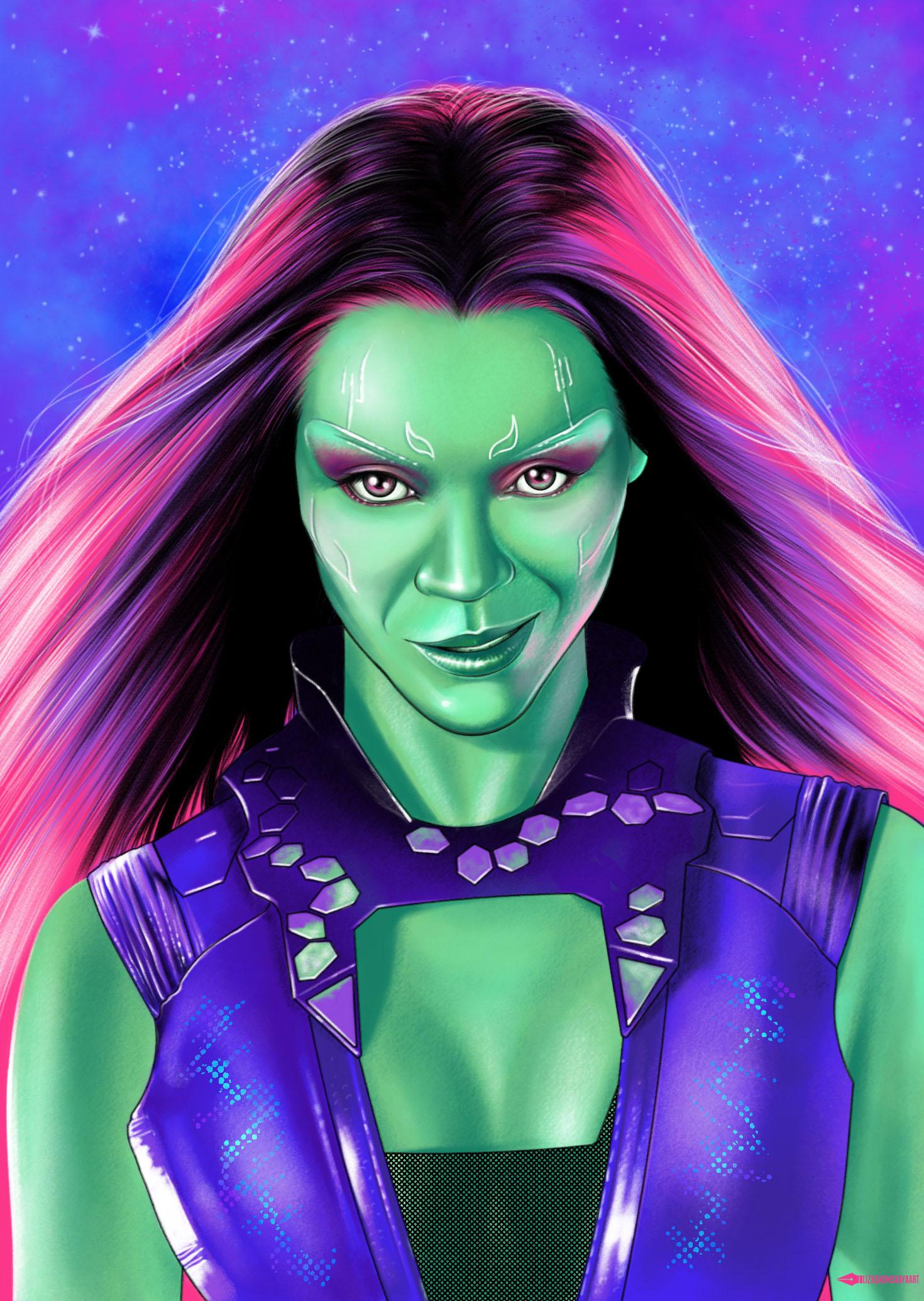 Gamora Avengers Endgame poster   Marvel superheroes