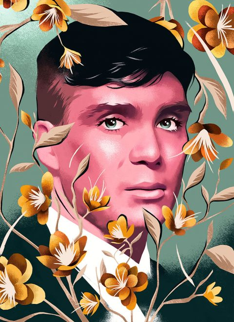 Tommy Shelby Portrait from Peaky Blinders