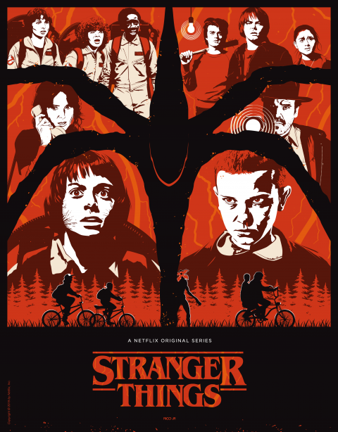 OFFICIAL STRANGER THINGS Poster Art