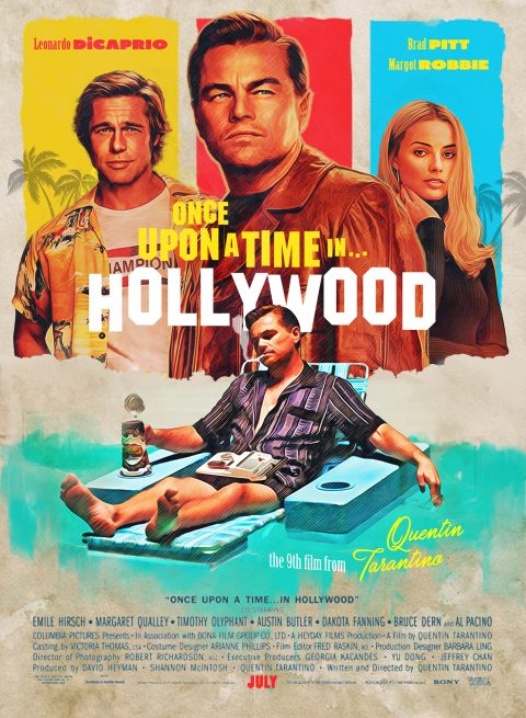 Once Upon A Time In Hollywood Alternate Poster