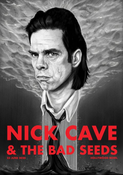 Nick Cave Gig Poster