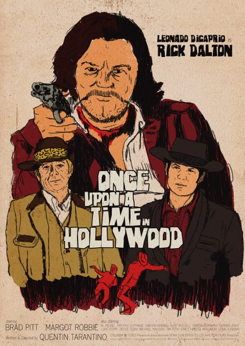 Once Upon A Time In Hollywood – Rick Dalton Western Inspired Poster